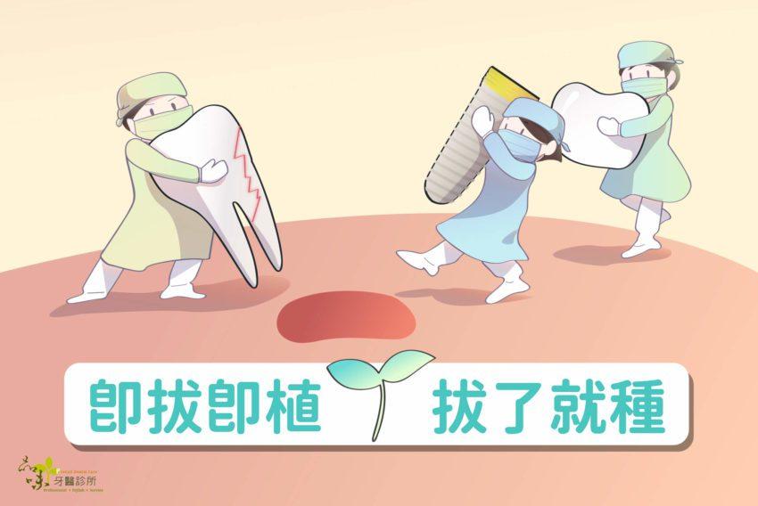 多個醫護人員搬著植牙填洞